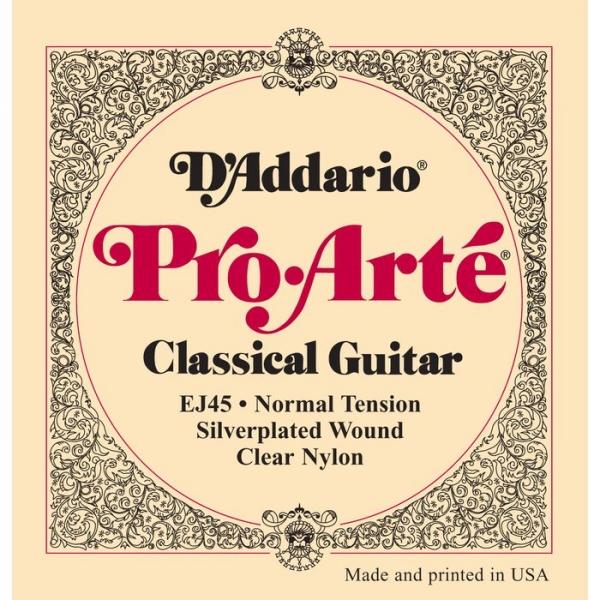 D'Addario - Pro-Arté - EJ45 muta Silver/Clear/Normal