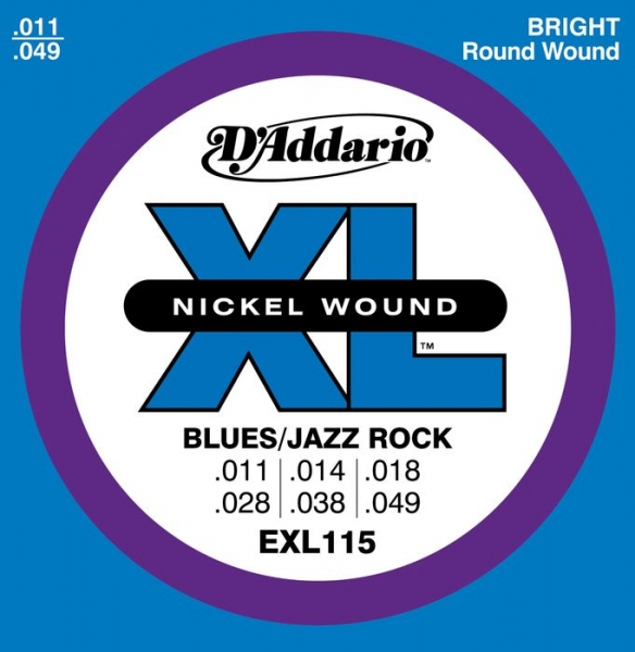D'Addario - XL Nickel Round Wound - EXL115 muta Blues/Jazz Rock .011-.049