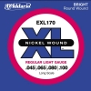 D'Addario - XL Nickel Round Wound - EXL170 muta Light Long Scale .045-.100 Basso