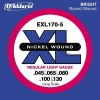 D'Addario - XL Nickel Round Wound - EXL170-5 muta Light Long Scale .045-.130 Basso