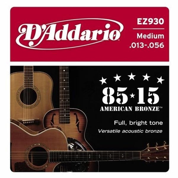 D'Addario - 85/15 Great American Bronze Round Wound - EZ930 muta Medium .013-.056