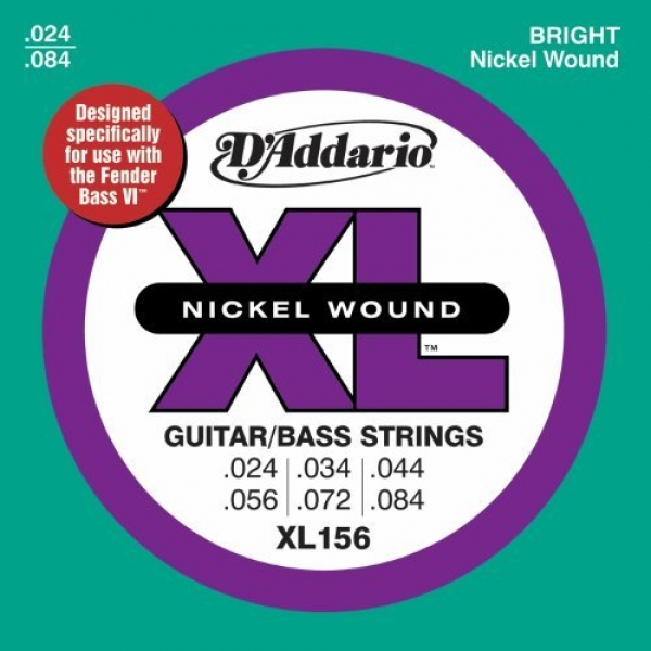 D'Addario - XL Nickel Round Wound - XL156 muta Guitar Bass – Medium